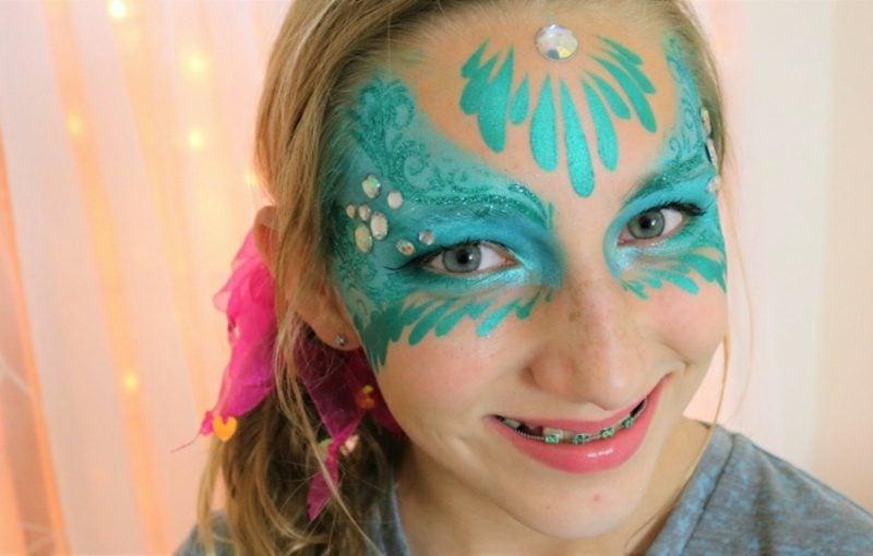 Halloween Kinderschminken Meerjungfrau