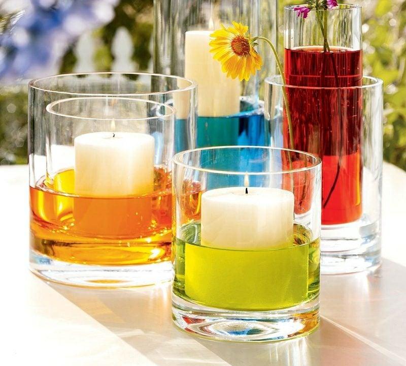 Bastelideen für Erwachsene Sommer schwimmende Kerzen