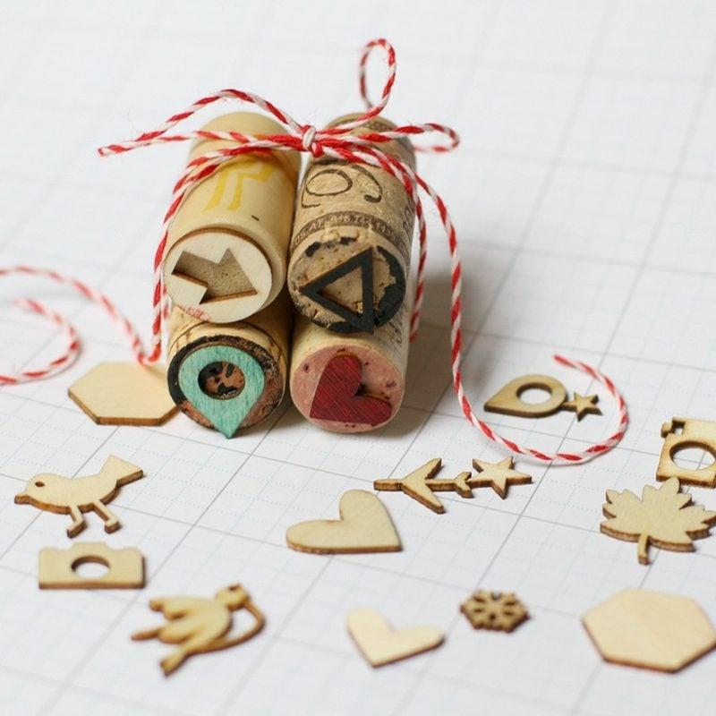 Stempeln mit Kindern Stempel Weinkorken