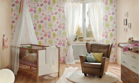 Kinderzimmer Tapeten Ideen Akzentwand gestalten