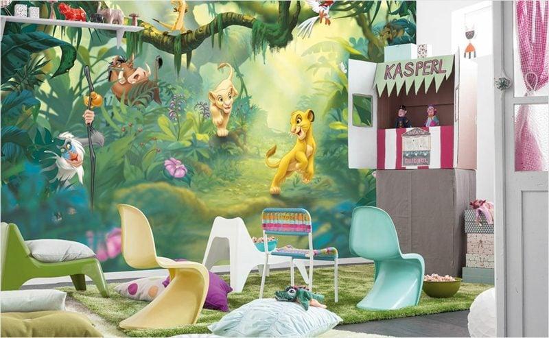 Kinderzimmer Tapeten Ideen Disney Helden