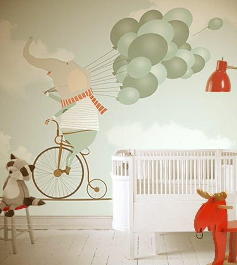 Kinderzimmer Tapeten Ideen originelle Motive