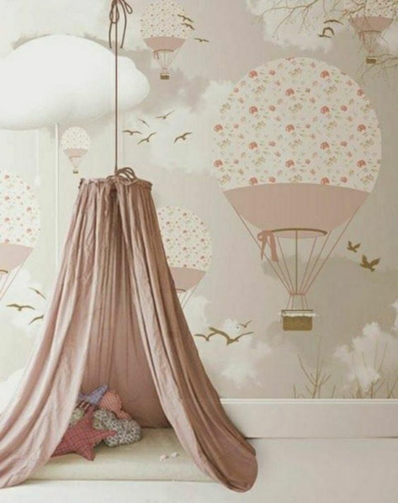 Kinderzimmer Tapeten Ideen Ballon herrlicher Look