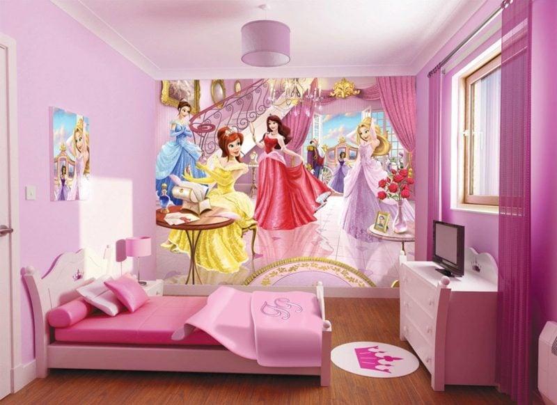 Kinderzimmer Tapeten Ideen Disney Prinzessinnen