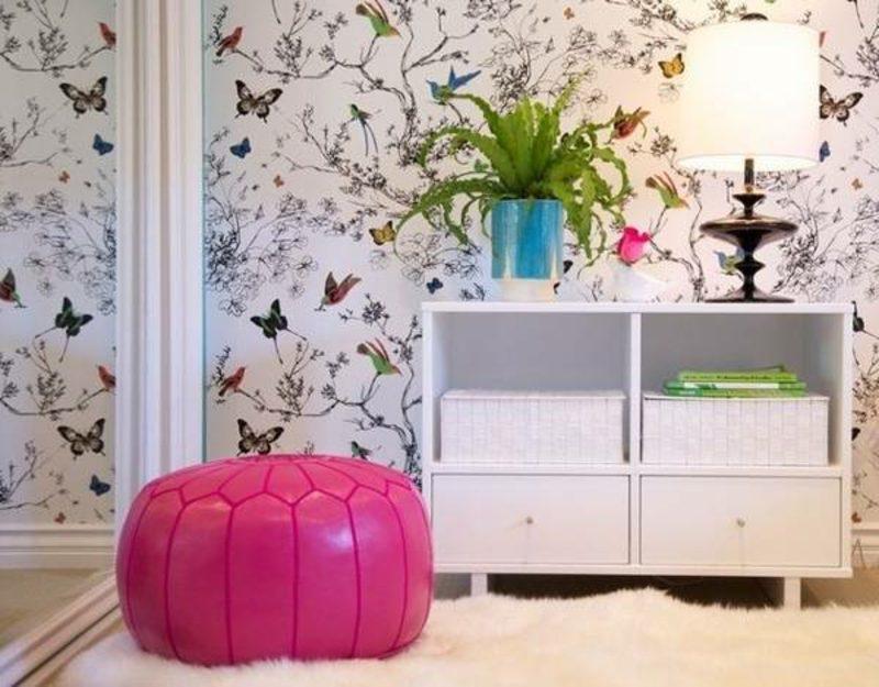 Kinderzimmer Tapeten Ideen Schmetterlinge