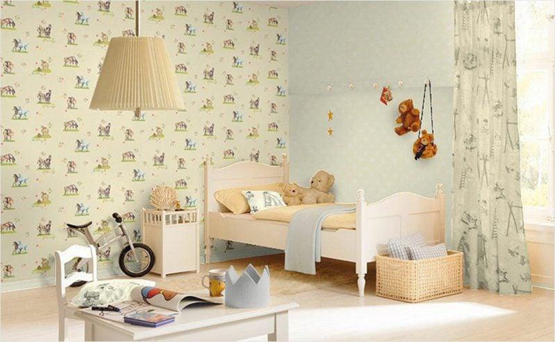 Kinderzimmer Tapeten Ideen beruhigendes Ambiente