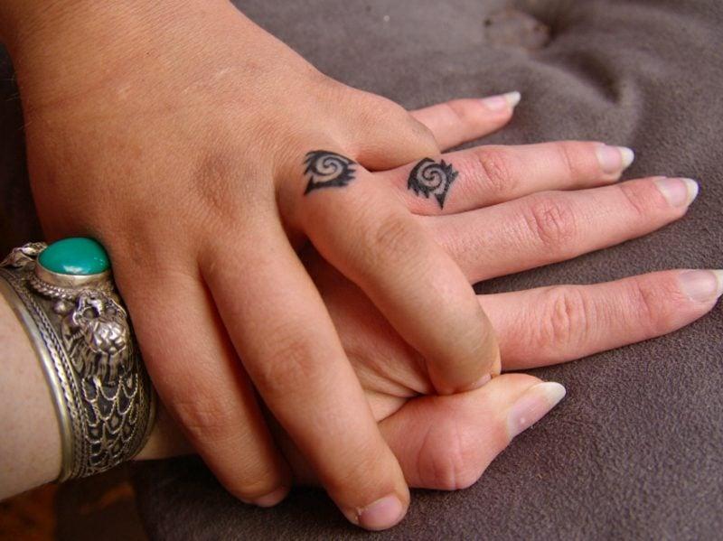Ehering Tattoo Motive Spirale keltisches symbol