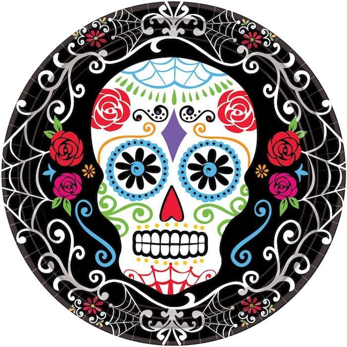 Tattoo Totenkopf mexikanisch Vorlage Spinnennetz