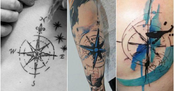 sich einen kompass tattoo stechen lassen bedeutung und tolle designs. Black Bedroom Furniture Sets. Home Design Ideas
