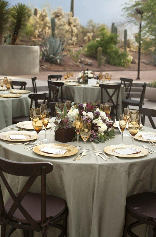 Hochzeit im Garten feiern Tischdeko tolle Ideen