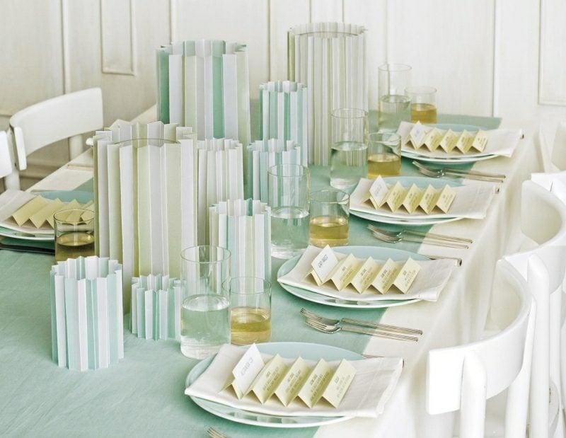 Bastelideen für Erwachsene Party Tisch dekorieren