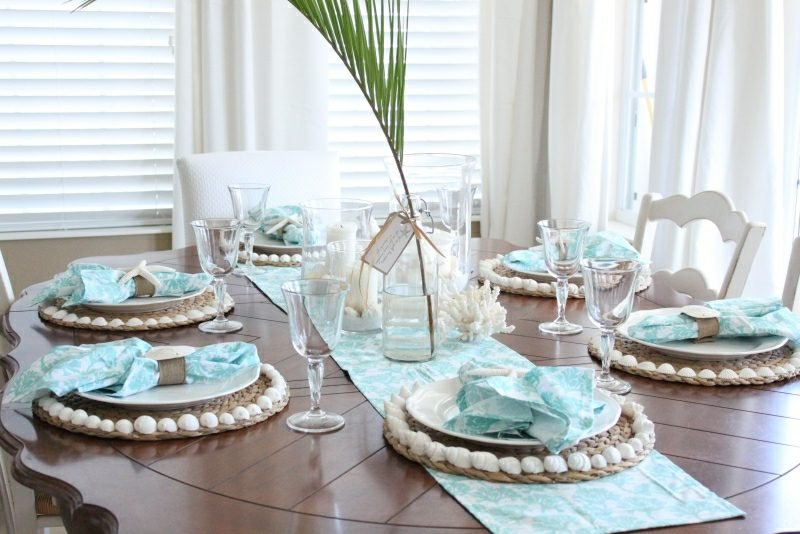 Bastelideen für Erwachsene Sommer faszinierende Tischdeko