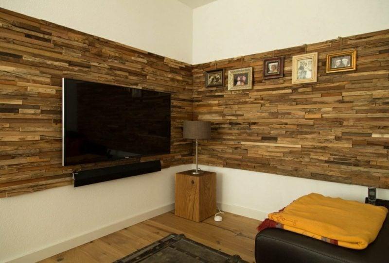 Wand Mit Laminat Verkleiden Interessante Akzente Im Interieur Setzen