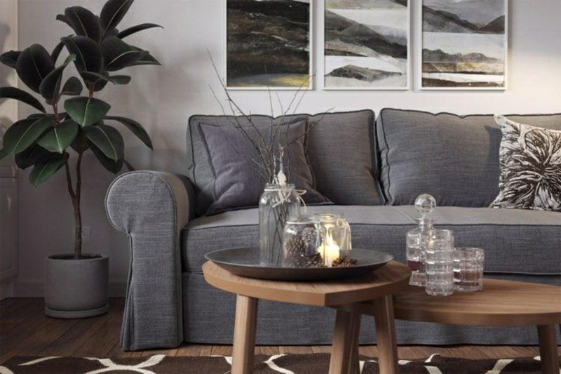 Wohnzimmer gestalten grau weiβ: tolle Designlösungen in ...