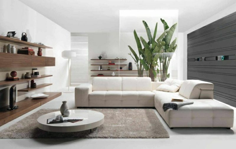 Wohnzimmer gestalten grau weiβ skandinavischer Stil