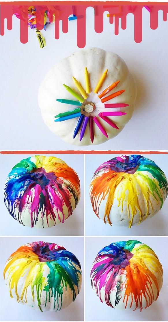 Kreative Bastelideen für Kinder: Pastellstifte verschmelzen