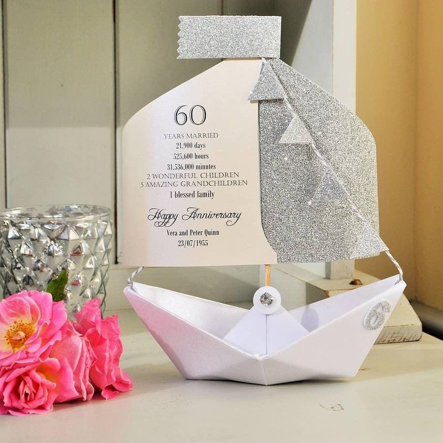 60 Jahre verheiratet - DIY Ideen für diamantene Hochzeit