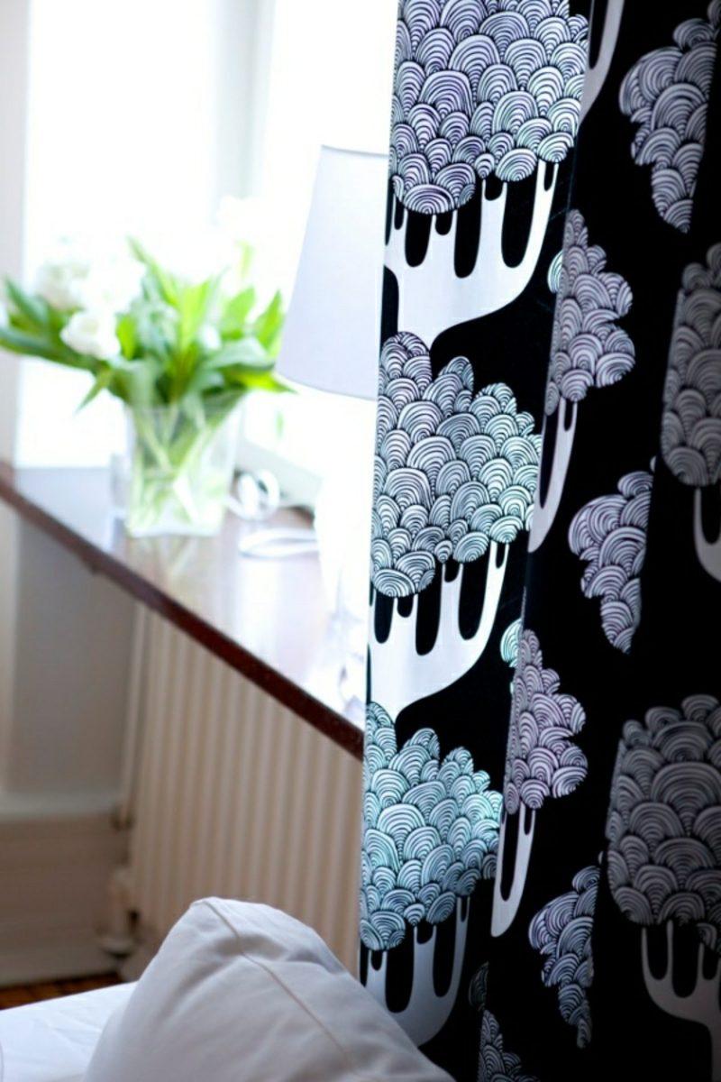 Gardinen Wohnzimmer interessante Muster