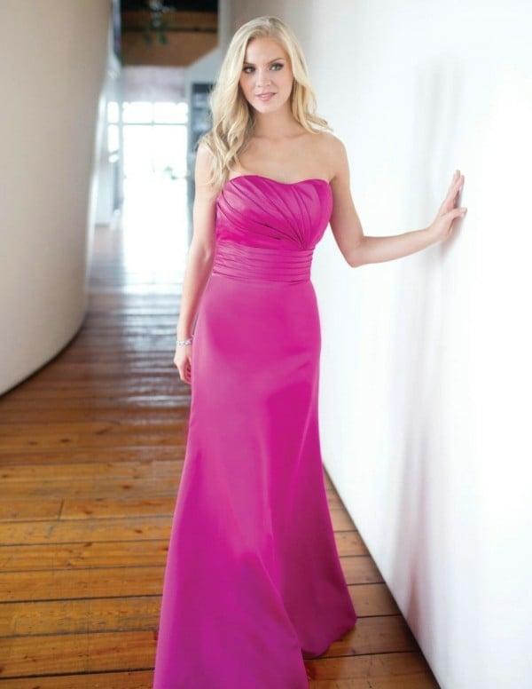 Kleider für Hochzeitsgäste pink herzausschnitt