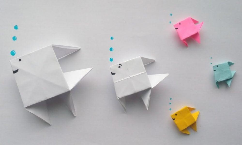 mit kindern fische basteln diy angelspiel mit papier fischen bastelideen zenideen. Black Bedroom Furniture Sets. Home Design Ideas