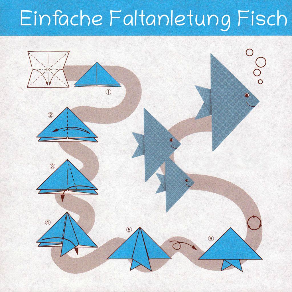 Fische Basteln Aus Papier: Fisch Bastelvorlage Und Faltanleitungen