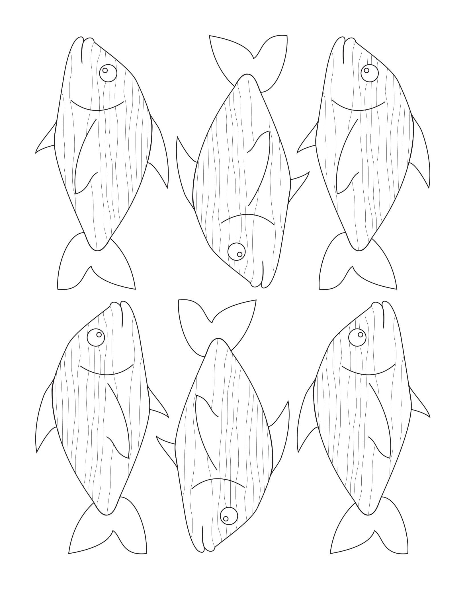 Kostenlose Bastelvorlage Fisch