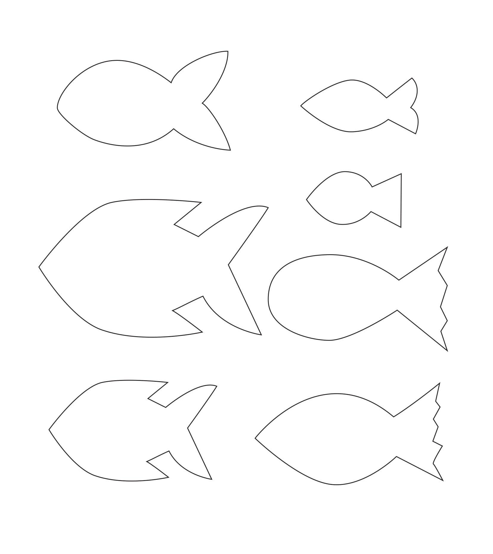Charmant Kostenlose Bastelvorlage Fisch: Herunterladen, Ausdrücken, Ausschneiden Und  Einfärben