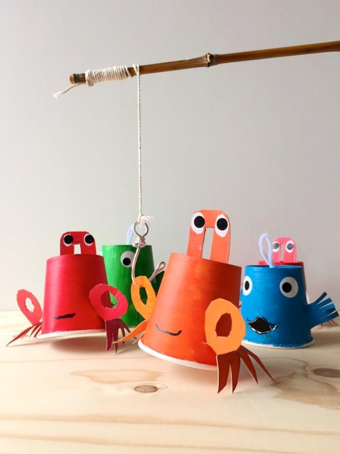 Einfache Bastelideen für Kinder: Tiere aus dem Meer Basteln mit Kindern