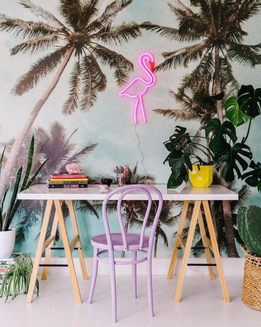 Flamingo Deko Arbeitszimmer Ideen