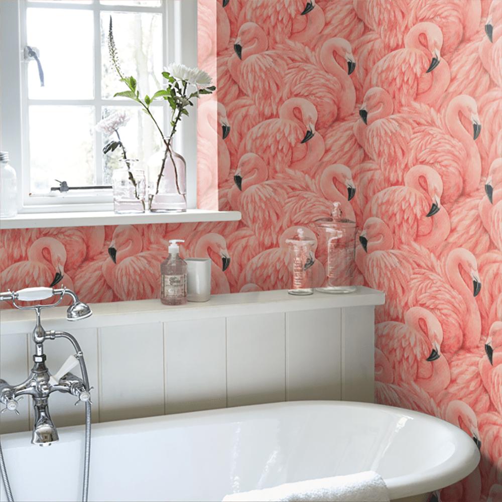 Badezimmer Flamingo Deko