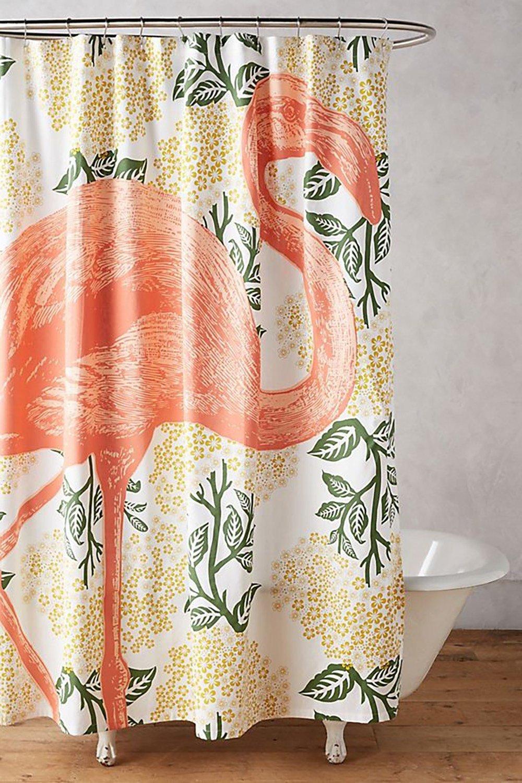 Tropisches Flair im Badezimmer mit Flamingo Badvorhang schaffen