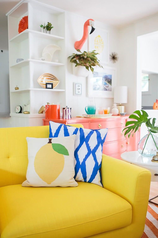 Sommerdeko Wohnzimmer Ideen