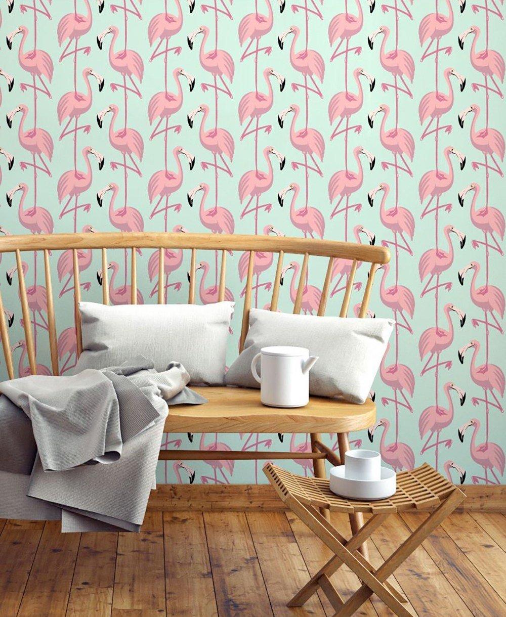 Tropische Stimmung an der Wand: Flamingo Tapete