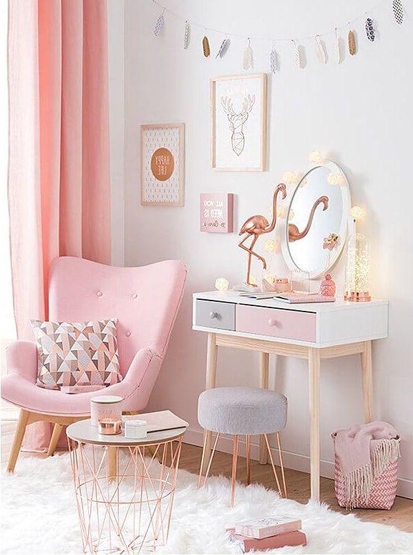Feminine Dekor mit Pink und Flamingo