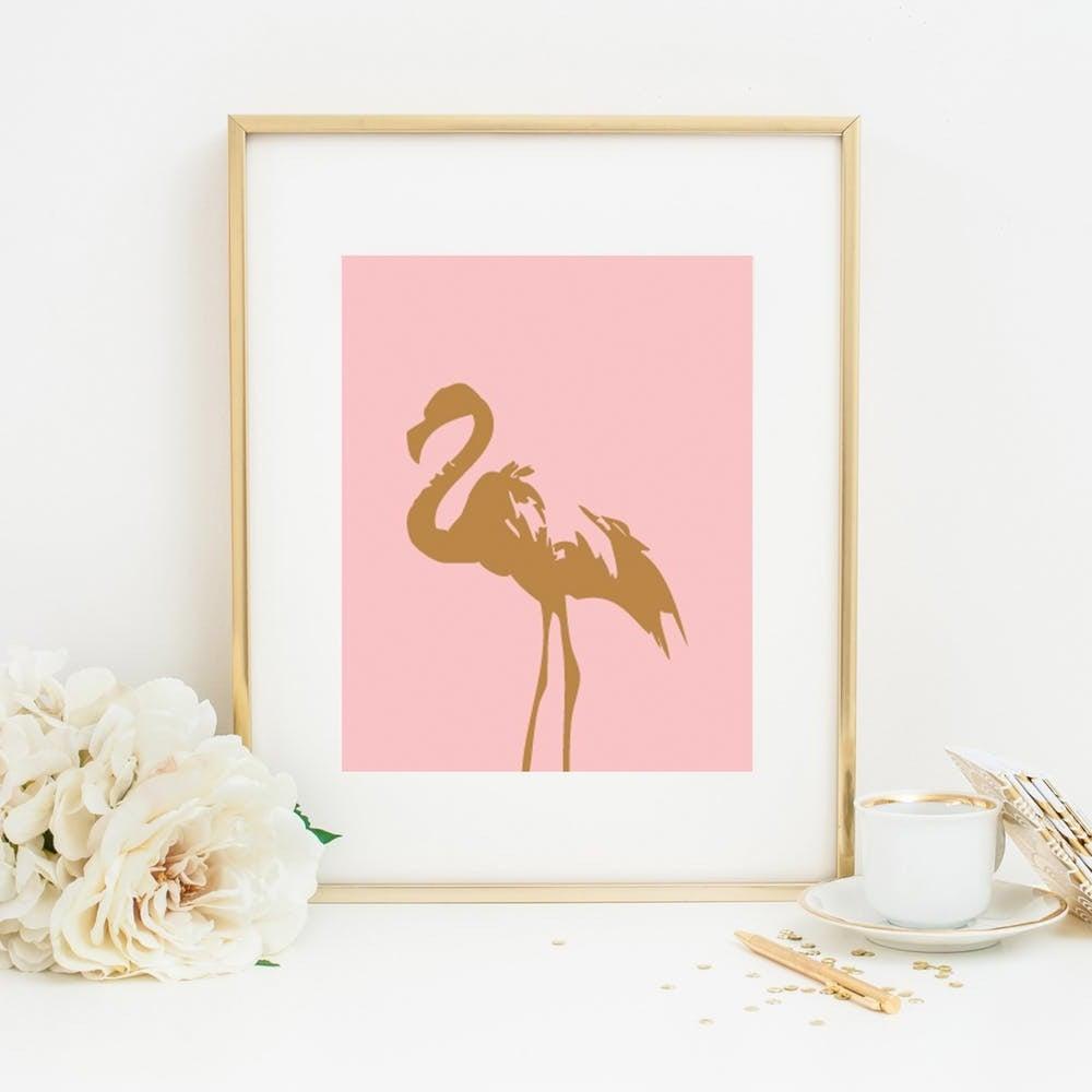Rosa Deko Flamingo Deko