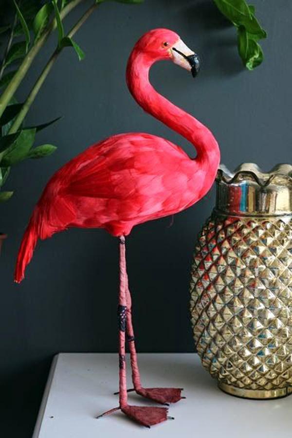 Einrichtung und Dekoideen mit Flamingo