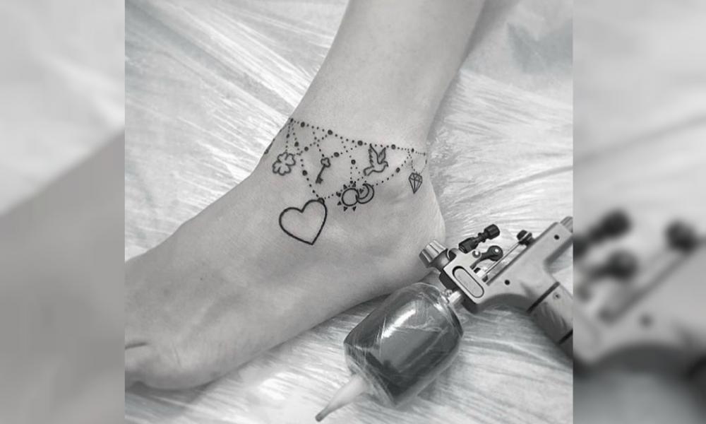 fuss tattoo kette inspirationen die die besten zier