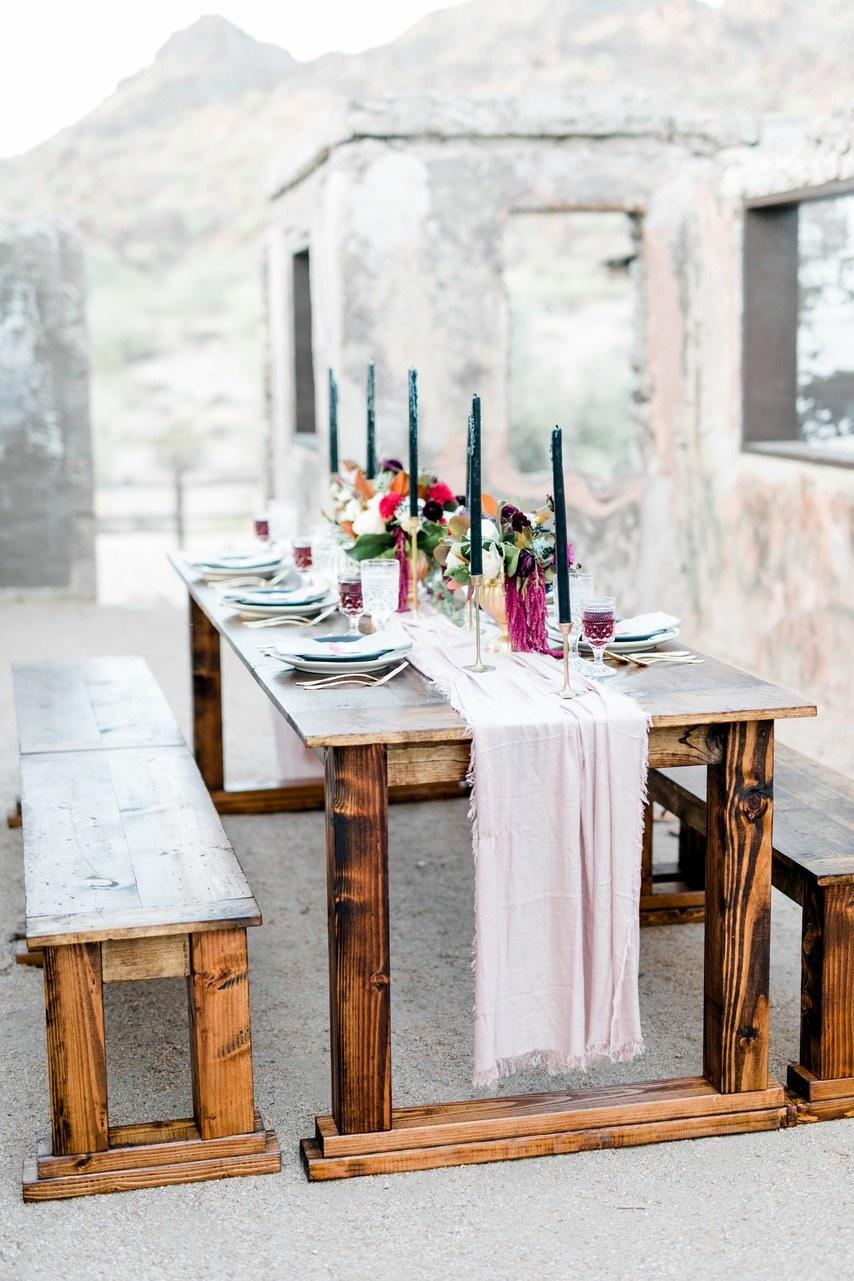 Vintage Deko Hochzeit auf den Tisch