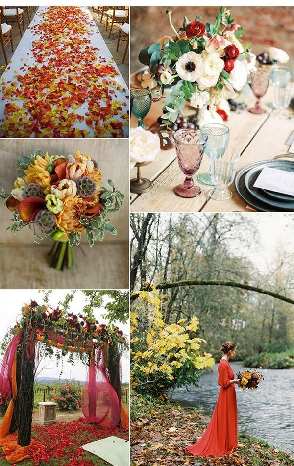 Ein ganzes Konzept für Hochzeitsdeko Vintage im Rot