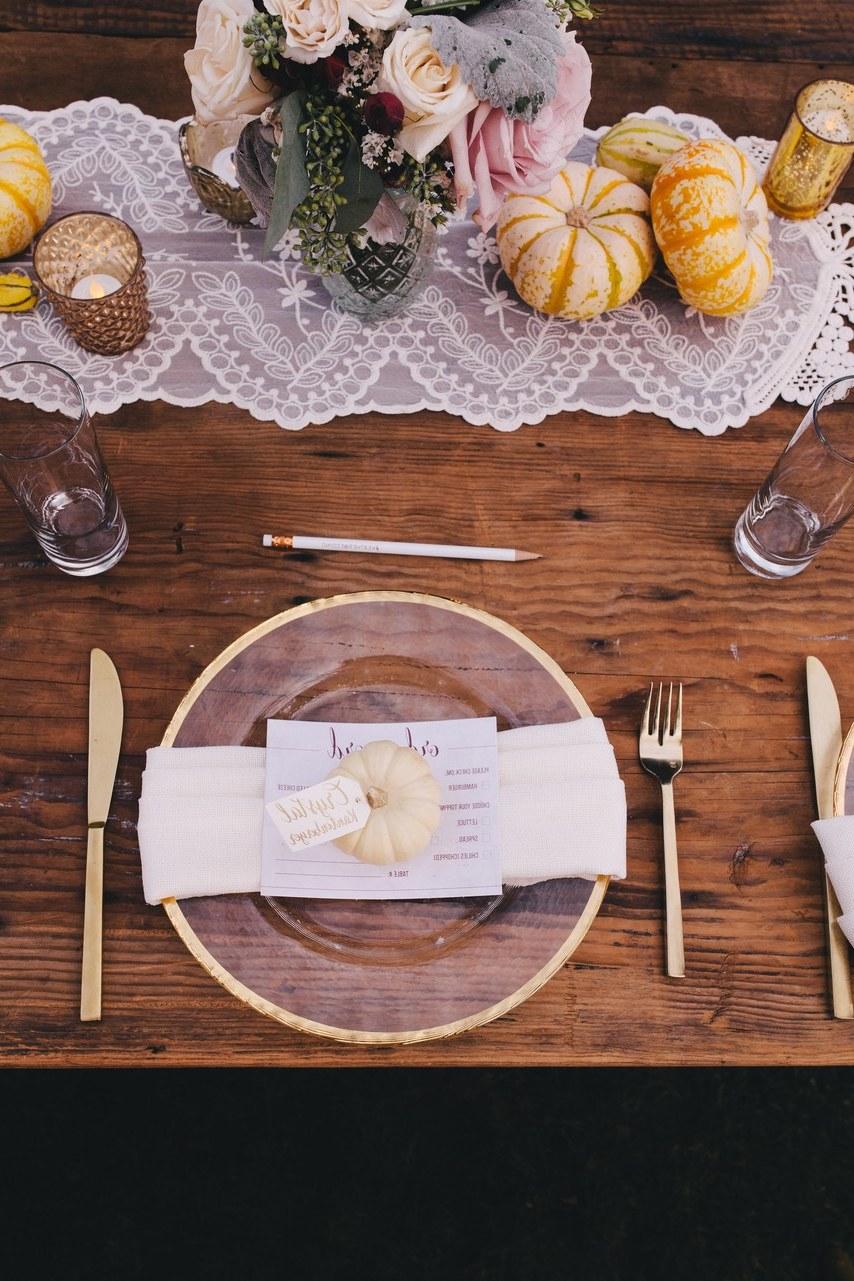 Herbstliche Hochzeitsdeko Tisch