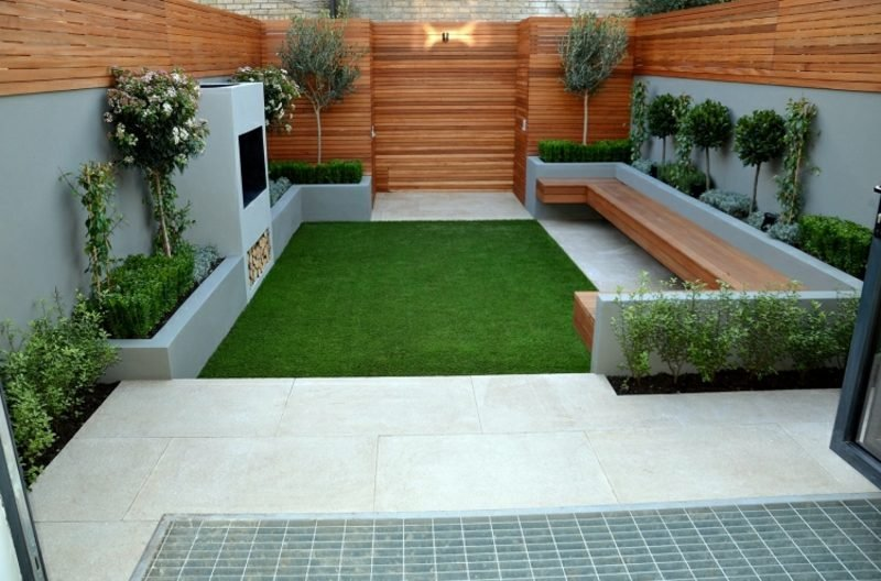 Gartengestaltung modern klare Ordnung