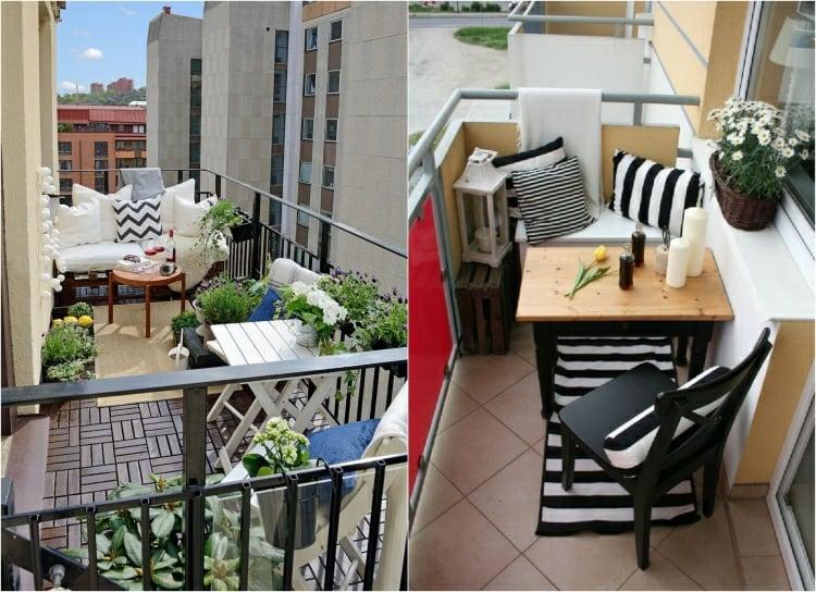 kleinen balkon gestalten platzsparende ideen und n tzliche tipps. Black Bedroom Furniture Sets. Home Design Ideas