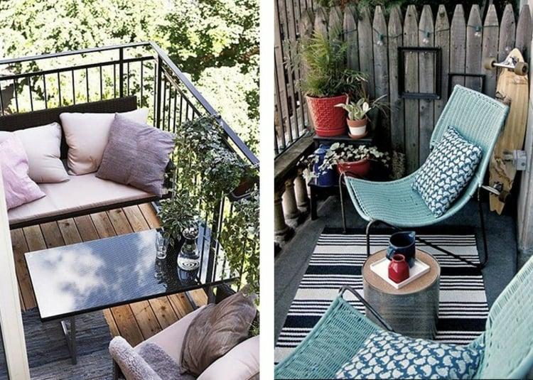 Balkon gestalten klein schlaue Ideen
