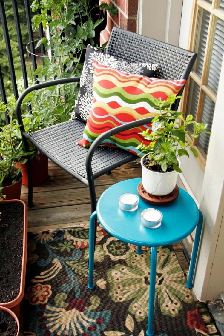 Balkon gestalten Leseecke