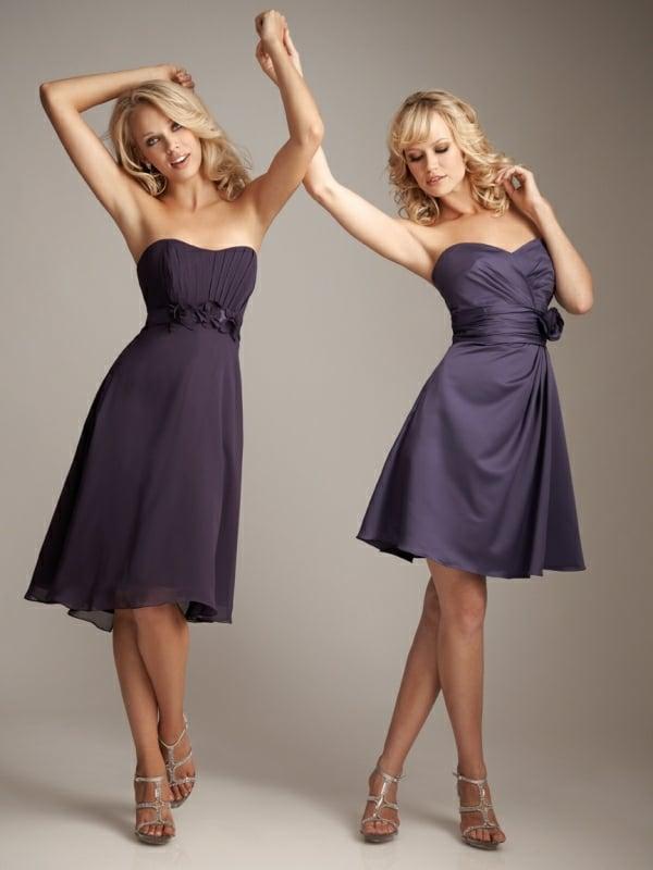 Kleider für Hochzeitsgäste kurz Herzausschnitt Gürtel