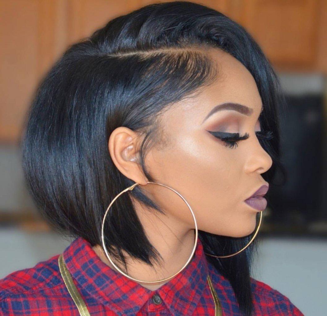 Die Angesagten Kurzhaarfrisuren Für Feines Haar In Schwarzer Farbe