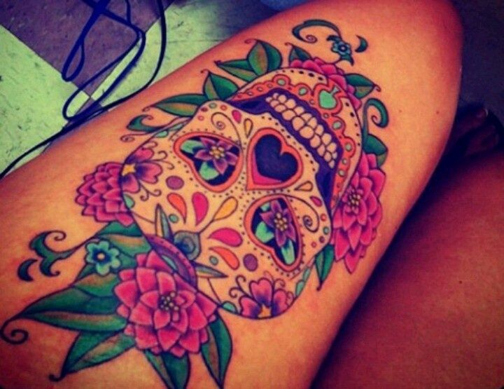 Tattoo Totenkopf mexikanisch Vorlage Bedeutung
