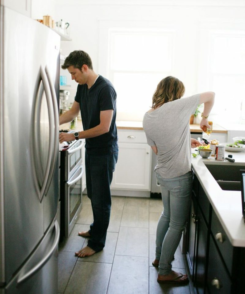 gemeinsam kochen mit dem Ehepartner