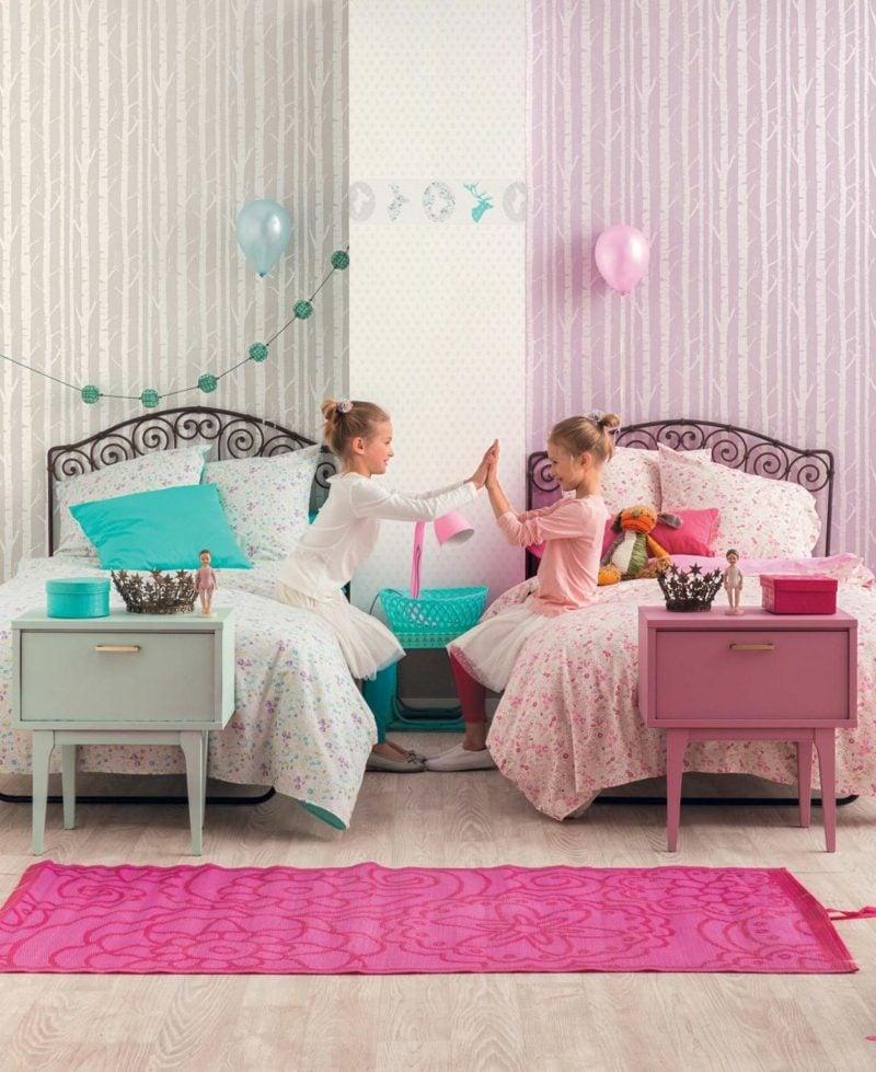 Kinderzimmer Tapeten Ideen originell beruhigende Farben