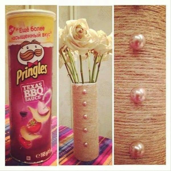 Pringles Dosen basteln - Dekoration